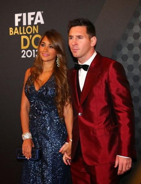 Messi aparece vestido a um brega na gala da entraga de bola de ouro