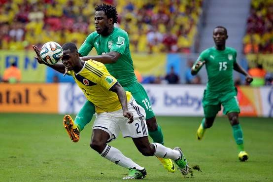 Colombia vence Costa De Marfim por (2-1)
