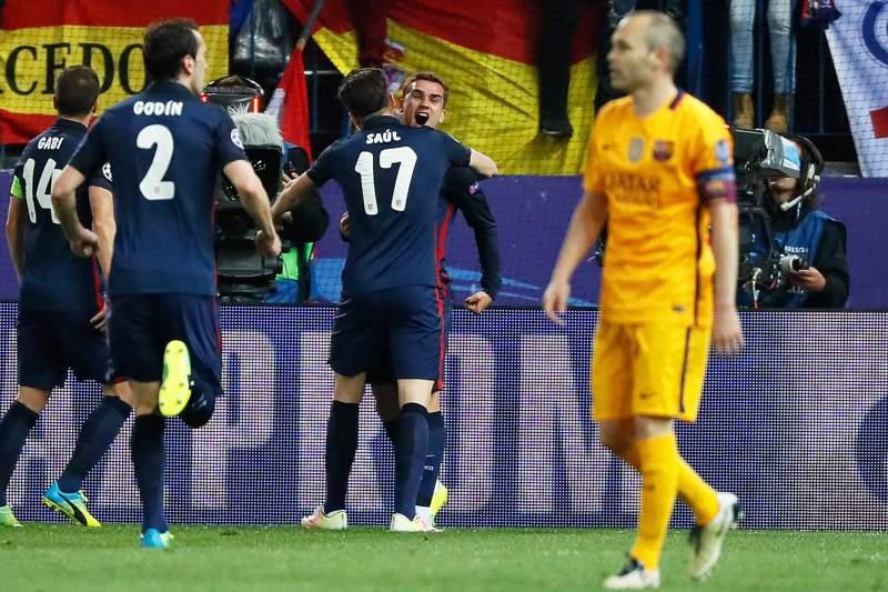 Atlético de Madrid vence Barcelona por 2-0 e apura-se para as meias-finais da Liga dos Campeões